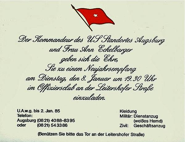 Amerika in Augsburg ~ Sheridan Reese Flak Fryar: Festive ...